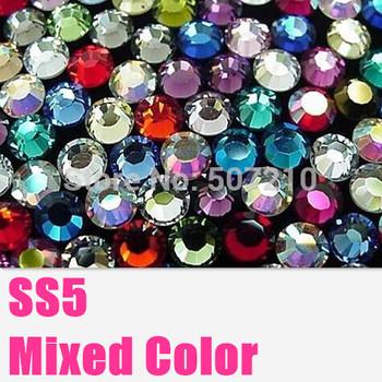SS5 Mixed Color Nail Art Rhinestones1440Pcs/Lot 1.7MM