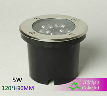 Freeshipping 5 w luci sotterranee led ip65 120 * h90mm ip65 illuminazione esterna  (China (Mainland))