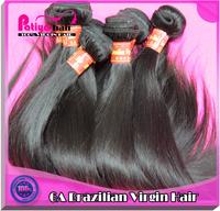 Free Shipping natural straight virgin brazilian hair 3pcs a lot unprocessed virgin hair weave natural color
