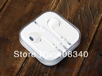 Wholesale! In-ear Earphone For iPhone 5/4/4s for ipad+Microphone+Remote Control for volumn/music/calls15pcs/lot Free Shipping