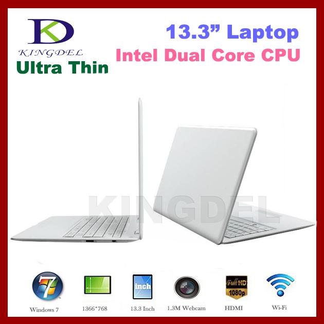 "Free Shipping 13.3"" Super Thin Laptop Notebook Computer, Intel D2500 Dual Core 1.86Ghz, 2GB+640GB, WIFI, Webcam, Mini HDMI(Hong Kong)"