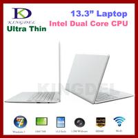 "Free Shipping 13.3"" Super Thin Laptop Notebook Computer, Intel D2500 Dual Core 1.86Ghz, 2GB+640GB, WIFI, Webcam, Mini HDMI"