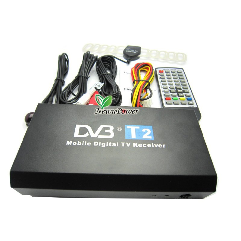 Free shipping NEW 40km/h speed maximum Mobile Digital Car DVB-T2 MPEG4 Digital TV tuner high Speed H.264 Receiver Box For Russia(China (Mainland))