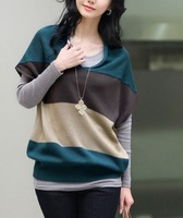 Free shipping autumn and spring new arrival 2013 spring and autumn women's sweater outerwear plus size pullover top