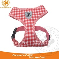 """My-Pet "" Brand 1pc Pink with checked dog easy -walk harness in soft cotton material with free shipping !"