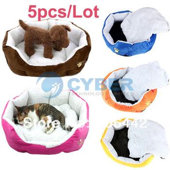 Wholesale 5Pcs/Lot Hot Sale Pet Product,Pet Dog Puppy Cat Soft Fleece Warm Bed House Plush Cozy Nest Mat Pad Free Shipping 5652