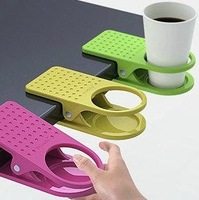2014 New Arrival Office Table Desk Drink Coffee Cup Holder Clip Drinklip 5pcs/lot  free shipping
