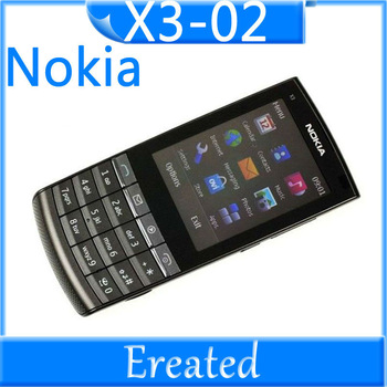 Nokia X3-02 original cell phone 3G wifi java bluetooth X3-02 Nokia Unlocked Mobiles Phone 5MP camera GSM bar phone free shipping