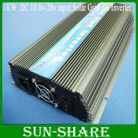 DHL free shipping 1000watt  grid tie power wind /solar inverter DC 10.8V-28V  change toAC110v/220v for home 4pcs /lot