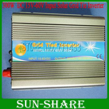 Free shipping! High Efficiency 300W DC24V/36V/48V Grid Tied  Inverter, Pure Sine Wave Inverter for Solar System, 6pcs/lot