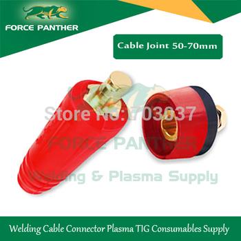 2014 Brand New 400Amp Red welding cable connector tig welder plug 50-70MM tig welder Panel socket parts
