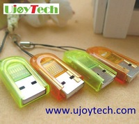 50pcs/lot Real USB 2.0 Micro SD Card Reader Wholesale USB 2.0 TF Card Reader Finger Style mini Adapter-Free Shipping