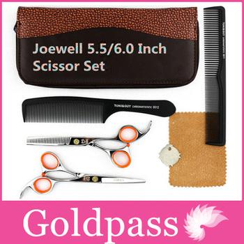 Hot Sale Joewell Hairdressing Scissors Set 5.5 Japan Professional Hair Cutting Kamisori Shears Tool Bag Supplies