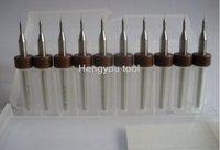 Free shipping New  lot 10pcs 0.1mm Carbide PCB Dremel CNC Power Drill Bits mini milling