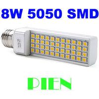 Dropshipping E27 LED Corn Light PL 8W 5050 SMD 40 LED Bulb Lamp Cool|Warm White 85V-265V Free Shipping 5pcs/lot
