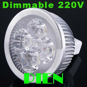 MR16 LED 220V Cheap gx53 Spotlight 4W Dimmable Jelwery show case Lamp High Power GU5.3 G53 5000K Wholesale Free Shipping 2pcs(China (Mainland))