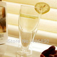 Happy Flipping Beer Cup Double Wall Glass for Coffee Novelty Gift 360ML Borosilicate