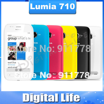 Hot sale Lumia 710 Nokia Lumia 710 Original mobile phone Bluetooth WiFi  wholesale Free Shipping