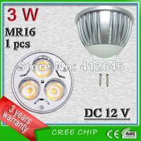 Free shipping_DC12v die-casting aluminum MR16 3W la lumiere du foyer LED