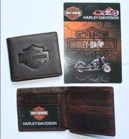 wholesale short pocket two fold soft Genuine Leather wallet