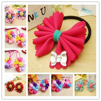 30pcs/lot HA0014 Free shipping 4.5*2cm cloth hair jewelry accessories for baby girl children