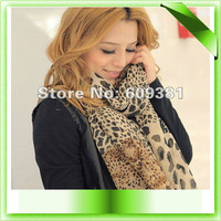 Fashion Women Larger Animal printed Leopard scarf shawl,Free Shipping by CPAM,10pcs/lot