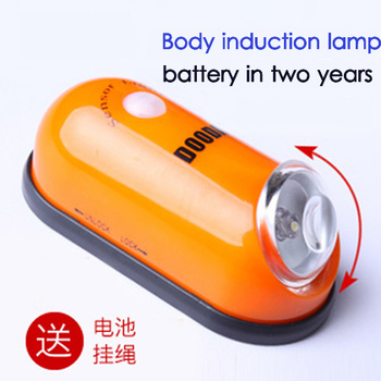 New arrival Free shipping novelty human body sensor light infrared sensor Led lamp intellective control mini night lamp 5 color