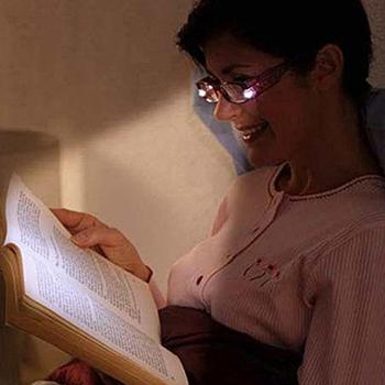 Wholesales 20pcs Promothion Gift BLACK +1.0 Strength LED Reading Glasses with LED Light reading in night  gift  reading Glasses