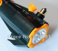 Multifunctional Car Auto Life Hammer Emergency with LED light charge mobile phones listen to the radio