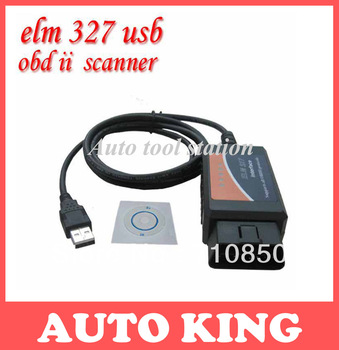 Supported all OBD/OBDII Protocols Can Bus USB elm327 Diagnostic Interface Scanner elm 327 Auto Code Reader tool ---free shipping