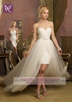 AWB0726 2013 Designer New Fashion Lace Inside Detachable Skirt Wedding Dress