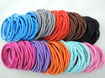 200 pieces multicolor Hair Elastic Ties Hair rope ponies scrunchies girl women hair accessories