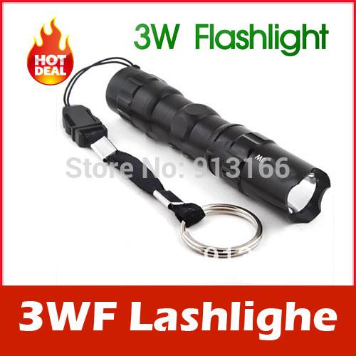 3W LED AA Handy Camping Flashlight Torch Lamp Keychain(China (Mainland))