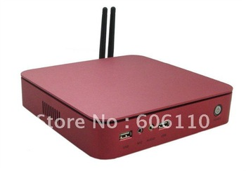 Ultra-thin aluminum Mini PC computer case pc htpc mini slimming machine hd-player e350 with 2g ram 16g ssd