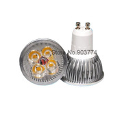 HongKong Post Free shipping Dimmable  GU10 LED 4x3W 12W High power Light Bulb Downlight Lamp 850lunmens
