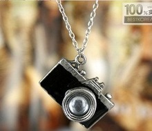 (Min order $10 mix) Hot Christmas gift& Retro camera Pendant Necklace, fashion jewelry + Free Shipping