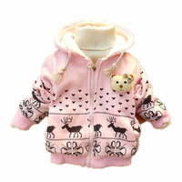 HOT!Children coat girls clothes with cap children's jackets baby cartoon fawn cashmere winter coat fashion jacket new outerwear