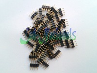 30pcs 4 Pin Male connectors for led strip lights RGB 5050 RGB 3528 insert easy  wholesale hot sale