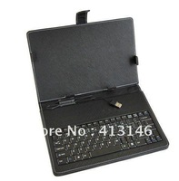 "Free shipping Full USB TYPE Leather Case Keyboard +stylus  for 8 "" Tablet PC"