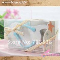 2013 Factory directly sale  Newest Wholesale Wedding favor 15PCS/LOT baby shoes Pop the Top Flip-Flop Bottle Opener Favors