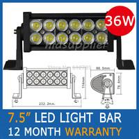 7.5Inch 36W watt 2500lm LED Light Bar Offroad LED Work Light Drive Fog Light For 4WD Truck SUV ATV Boat free shipping