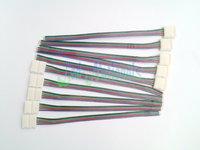 10PCS connector 4 color wires for led strip flexible lights 5050 RGB 10mm width wholesale