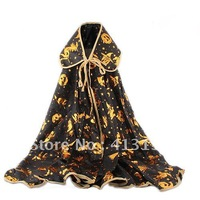 Cool Halloween Cosplay Witch Pumpkin Animal Pattern Mantle Cape Cloak Costumes (Size L) - 60809