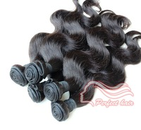Perfect Hair 100% Malaysian virgin remy hair extensions body wave 1b 100/pcs 3pc/lot