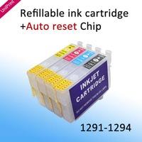 Refillable Ink Cartridges for Epson SX230 SX235W SX430W SX435W SX440W SX445W 129 t1291