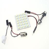Free Shipping 30 pcs 24 SMD 3528 chips dome light Car LED Panel light Automotive LED bulb white Reading lighting