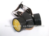 free delivery Double tank gas mask protective mask labor insurance supplies protective mask activated carbon dust cake