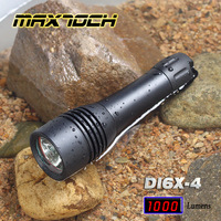 UNIQUE!! MAXTOCH T6 1000LM Diving 18650 Aluminum LED Flashlight/Torch (DI6X-4), Compact/Dive/Bright, Scuba Dive 200M+ waterproof