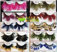 LOL-MALLexport product 72styles 20*fancy  feather party Thick Long False Eyelashes Eyelash Eye Lashes wholesale  women