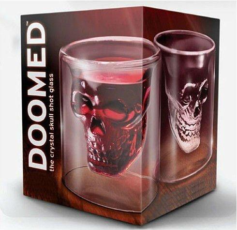 Free shipping 6PCS/LOT Novelty Cup wholesale Crystal Skull shot glass(China (Mainland))